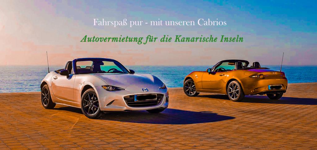 Autovermietung Teneriffa – Cabrio Mietwagen